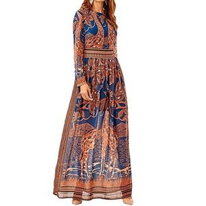 Dresses & Skirts - Ethnicity Giraffe Print Cocktail Maxi Dress